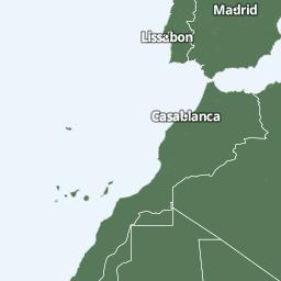 Karta Over Spaniens Vastkust.Vadret I Spanien Foreca Se